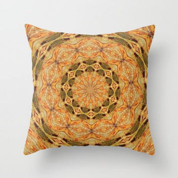 Geometric, Fall Decor, Rust Orange, Burnt Orange, Pillow Cover, Mandala, Living Room Decor,