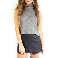 Who We Are Gray Turtleneck Crop
