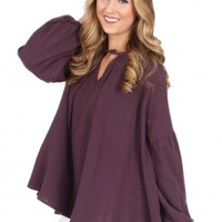 In My Mind Top in Eggplant | Monday Dress Boutique