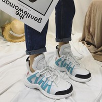 "Louis Vuitton Sci-Fi Sneakers Retro Sneaker ""Triple Black"" ""White Light Blue"" AD9U1ASC01N400"