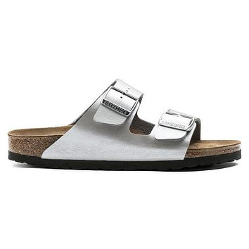 Birkenstock Arizona Birko Flor Graceful Silver 1009603/1009602 Sandals - Ready Stock