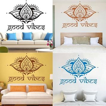 5 colors Islamic wall stickers home decoration wall art for bedroom India Buddhism mandala pattern for meditation 57x50cm WS052