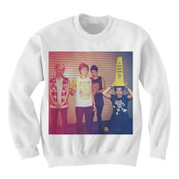 5SOS Sweatshirt Sweater - 5 Seconds of Summer Sweater Sweatshirt Shirt - 5 sos - Fan0035 - 5sos caution portrait