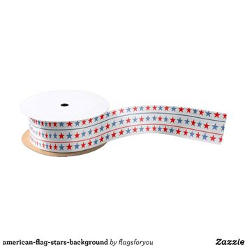 american-flag-stars-background satin ribbon