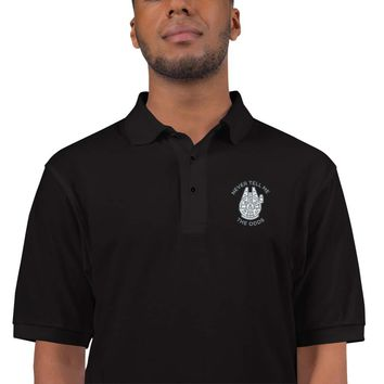 Never Tell Me The Odds Embroidered Polo Shirt