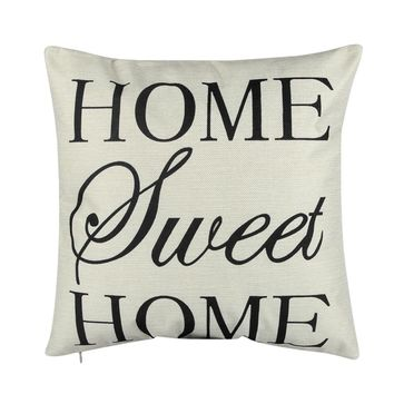 HOME Musical Note Printed Pillow Cover Case 43x43CM Mat Cotton Linen Throw Square Pillowcases for Home Room Decoration