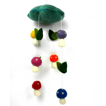 Felt Mushroom Mobile - Fair Trade