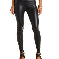 High-Waisted Liquid Leggings by Charlotte Russe