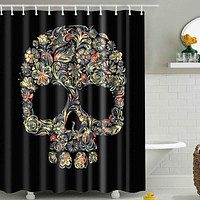 Skull Pattern Shower Curtain Colorful & Eco-friendly