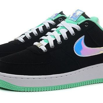 LMFON Nike Air Force 1 488298-029 Mint Green Black For Women Men Running Sport Casual Shoes Sneakers