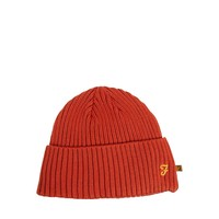 Farah Vintage Farah Ribbed Beanie Hat - Orange