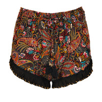Molly Ruffle Hem Embroidered Running Shorts
