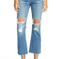 rag & bone/JEANS Distressed High Rise Crop Flare Jeans (Howell With Holes) | Nordstrom