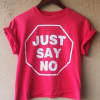 Vintage D.A.R.E Just say no tee