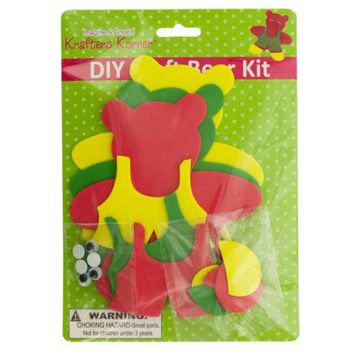 DIY Craft Foam Teddy Bear Kit ( Case of 40 )