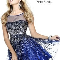 Sherri Hill 8525 Sparkly Party Dress