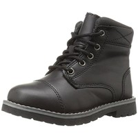 Crevo Boys Camden Faux Leather Ankle Combat Boots