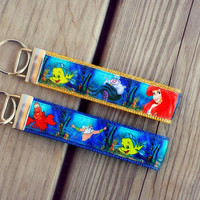 Disney Inspired Little Mermaid #2 Keychain, Key Fob, Accessories, Key Holder, Wristlet, Princess Ariel