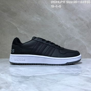 HCXX A530 Adidas NEO Low Leather Casual Skate Shoes Black