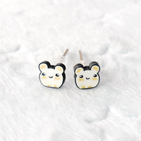 Cute Tiny Hamster Earrings :D