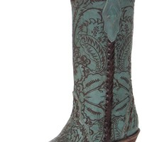 Corral Women's Turquoise Engraved Lace Cowboy Boots $279