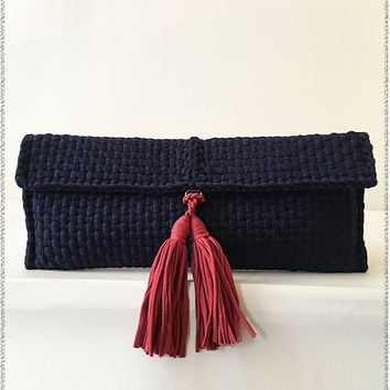 Navy Stella Clutch