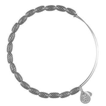 Alex and Ani Indus Beaded Bangle Bracelet - Rafaelian Silver Finish
