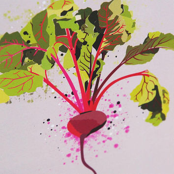Kitchen Print - Beetroot  - kitchen prints - art prints - wall art prints - wall prints - food art - vegan - vegetarian