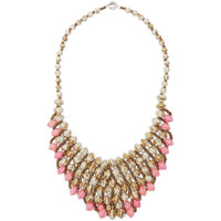 31 Bits Beige Bastilla Bib Necklace