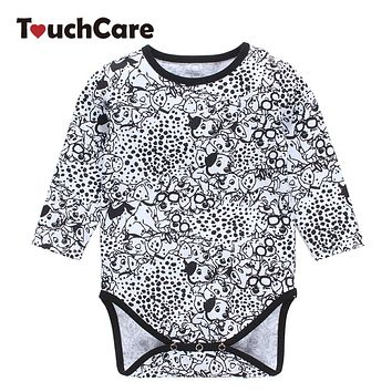 Infant Soft Cotton Baby Boy Girl Rompers Newborn Long Sleeve Cute Animal Dogs Printed Jumpsuit Toddler Casual O-neck Clothes