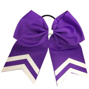 Softball Hair Bow- Purple