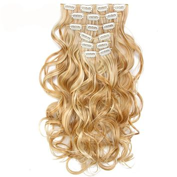 Body Wave Ombre Blond Clip in Hair Extensions