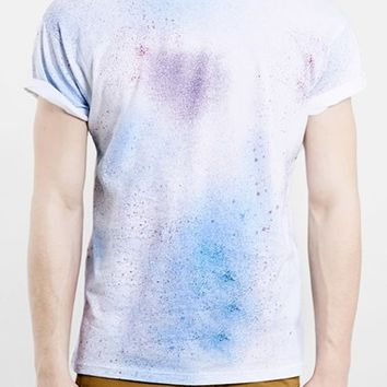 Men's Topman Paint Splatter Print T-Shirt