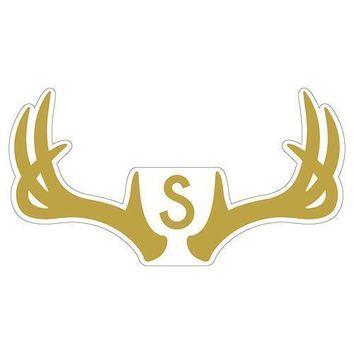 Woodland Pretty Monogram Antler Small Cling Gold (Pack of 1)