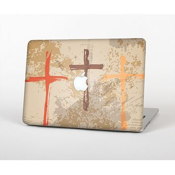 The Tan Splattered Color-Crosses Skin Set for the Apple MacBook Air 13""