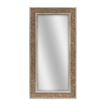 Cameron Water Hyacinth Woven Frame Large Scale Wall Mirror by Uttermost