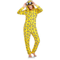 Walmart: Women's Character Micro Fleece One-Piece Hooded Pajamas