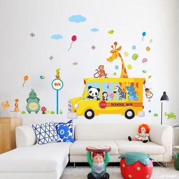 Giraffee Turtle Nursery Room Decor Art Decal Wall Stickers