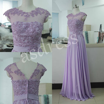 2015 New Purple Sheath Mother Of The Bridal Dresses Lilac mother of the Groom dresses Chiffon prom evening dresses,Long wedding party dress