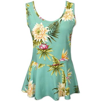 mountain hawaiian peplum top