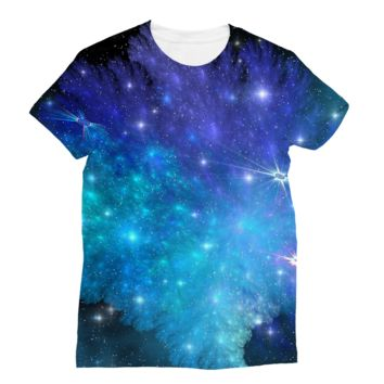 Blue and Purple Space Explosion Subli Sublimation T-Shirt