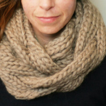 Braided Cowl Knitting Pattern : KNITTING PATTERN: Braided Cable Cowl, from LearnToKnitWithKatie