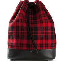 Saint Laurent plaid bucket bag