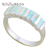 Ladies White Fire Opal Ring
