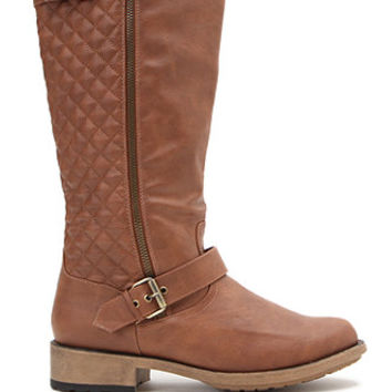 Qupid Quilted Relax Knee High Boots at PacSun.com