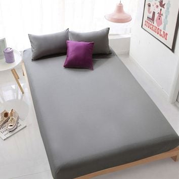 Polyester&Cotton Fitted  Bed Sheet/Full/Twin/Queen