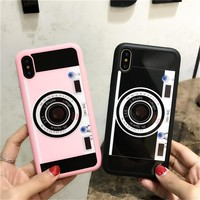 Innovative Camera Phone Case For iphone X Case Luxury Mirror Retro Camera For iphone 10 8