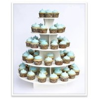 "The Smart Baker® 5 Tier Round Cupcake Stand Holds 90+ Cupcakes ""As Seen on Shark Tank"""