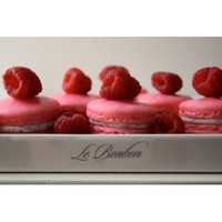 Hot Pink Raspberry French Macarons