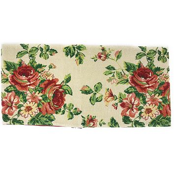 Tache Sweet Roses Vintage Ivory Woven Tapestry Table Runners (17593TR)